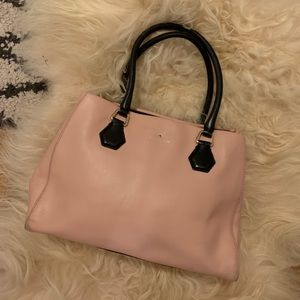 Kate Spade pink champagne leather bag